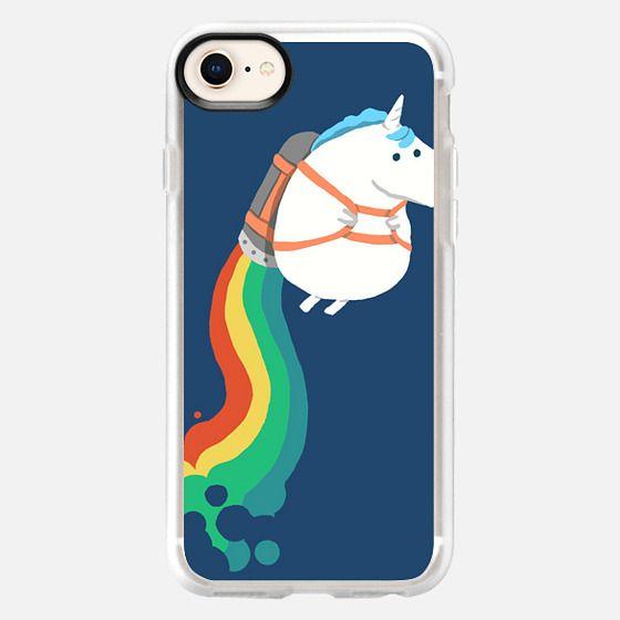 Unicorn on Rainbow Jetpack - Snap Case