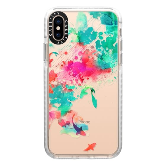 iPhone XS Cases - Watercolor Pond