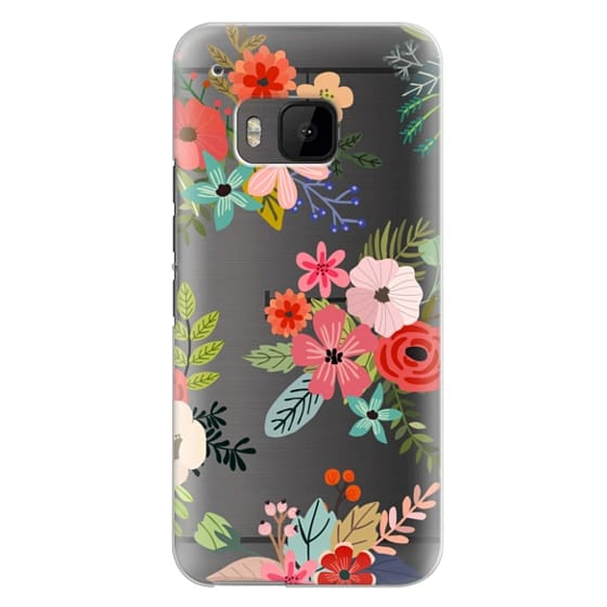 Htc One M9 Cases - Floral Collage