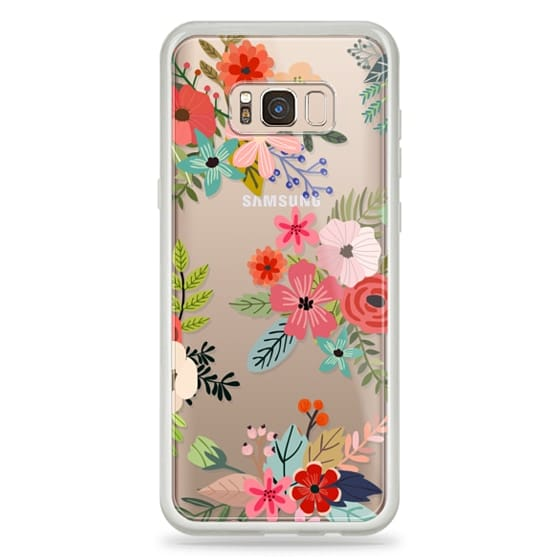 Samsung Galaxy S8 Plus Cases - Floral Collage