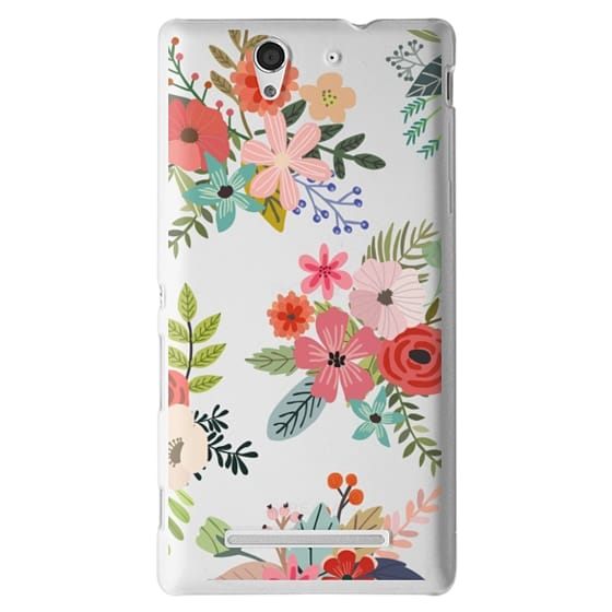 Sony C3 Cases - Floral Collage