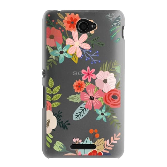 Sony E4 Cases - Floral Collage