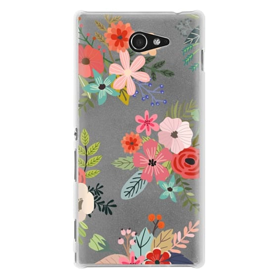 Sony M2 Cases - Floral Collage