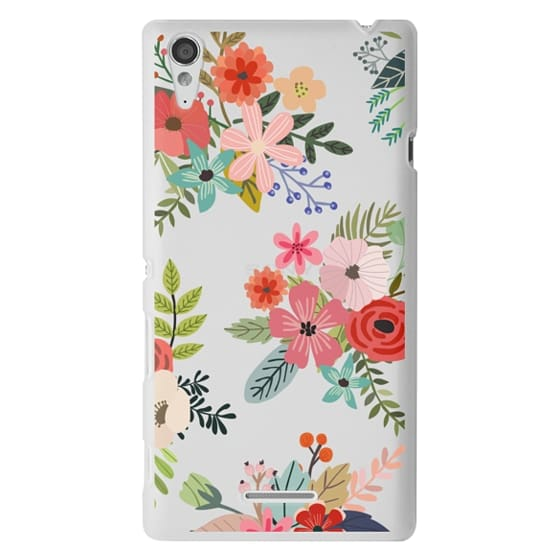 Sony T3 Cases - Floral Collage