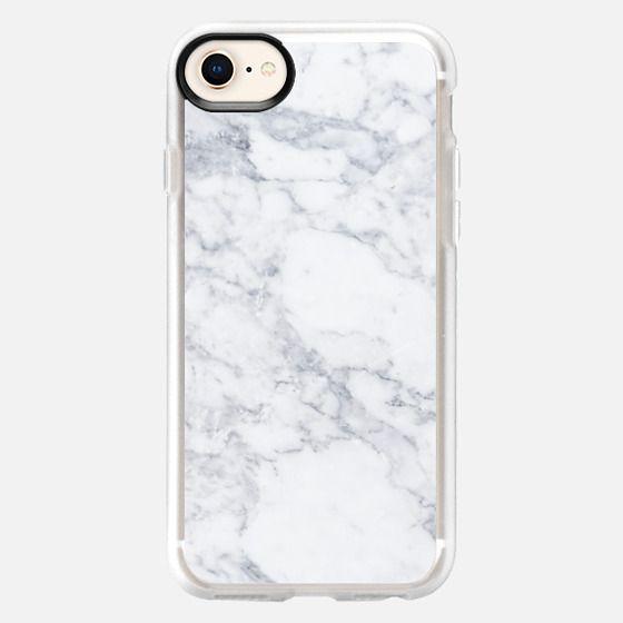 Marble white - Snap Case