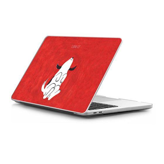 MacBook Pro Touchbar 15 Sleeves - Puppy on red