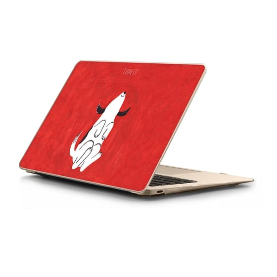 MacBook 12 Sleeves - Puppy on red