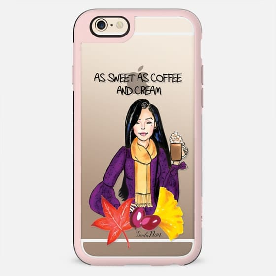 As sweet as coffee and cream - Asian (Illustration Transparent case)- iPhone