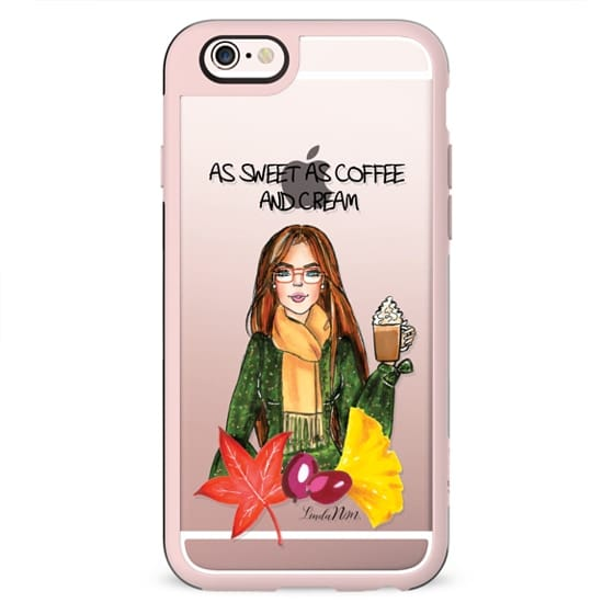 As sweet as coffee and cream - Brunette (Illustration Transparent Case)