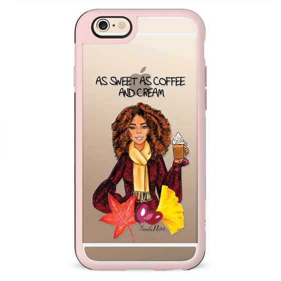 As sweet as coffee and cream - Brown skin (Illustration Transparent case)- iPhone