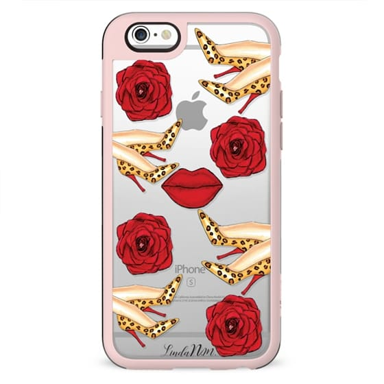 Leopard and Red (transparent case)