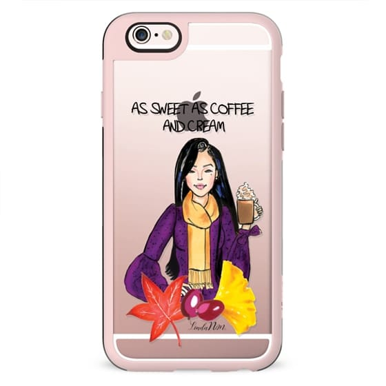 As sweet as coffee and cream - Asian (Illustration transparent case)