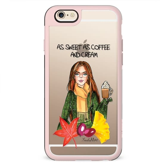 As sweet as coffee and cream - Brunette (Illustration Transparent case)- iPhone