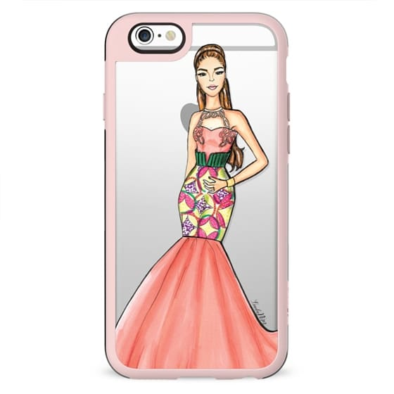 African print ball gown - clear case