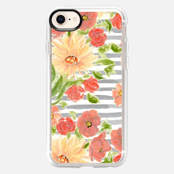 Florals + Parallels - Snap Case
