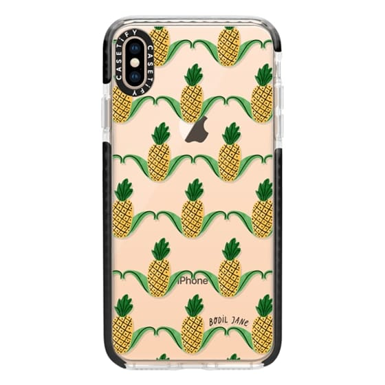 iPhone XS Max Cases - Pineapples by Bodil Jane