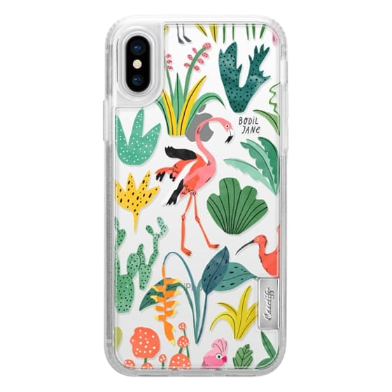 iPhone X Cases - TROPICAL BIRDS BY BODIL JANE