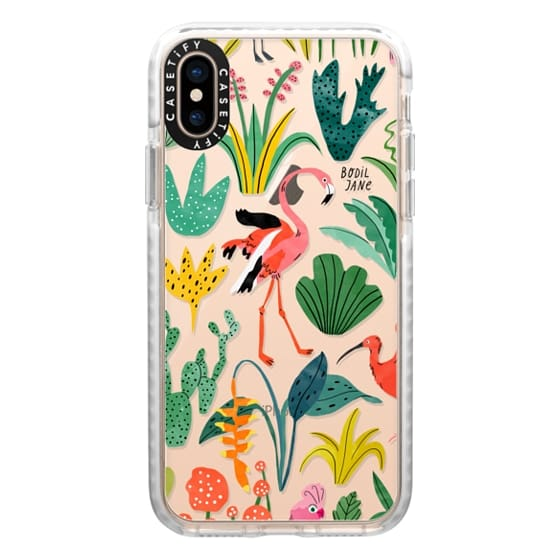 iPhone XS Cases - TROPICAL BIRDS BY BODIL JANE