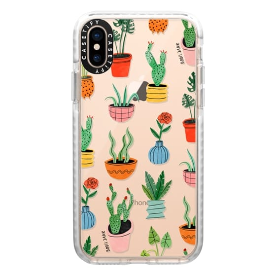 iPhone XS Cases - PLANT POTS BY BODIL JANE