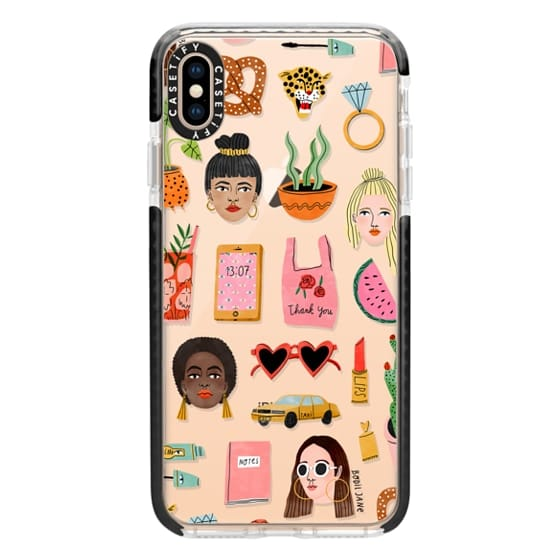 iPhone XS Max Cases - Mixed Pattern by Bodil Jane