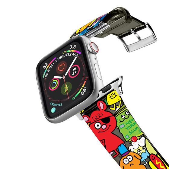CASETiFY Apple Watch Band (38mm/40mm) Tpu Transparent Watchband - Doodles by Jon Burgerman