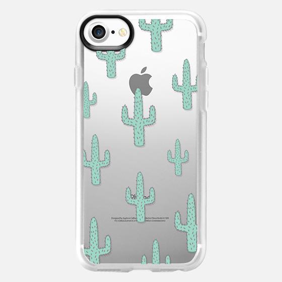 Mint Green Desert Cactus Chic Transparent Case 010 - Wallet Case