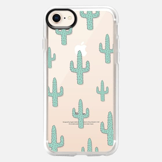 Mint Green Desert Cactus Chic Transparent Case 010 - Snap Case