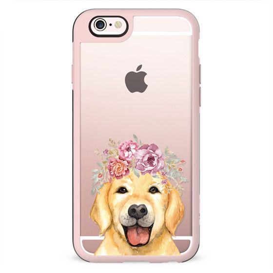 Golden Retriever Flower Crown Floral Feminine Pet Dog Summer - Case 052