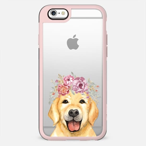 Golden Retriever Flower Crown Floral Feminine Pet Dog Summer - Case 052 - New Standard Case