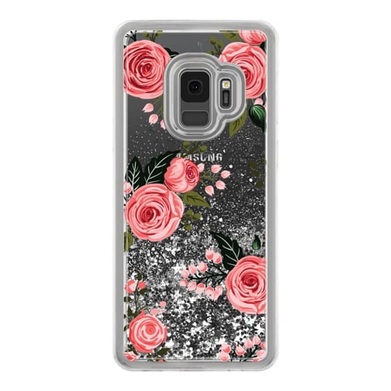 Pink Floral Flowers and Roses Chic Feminine Transparent Case 008