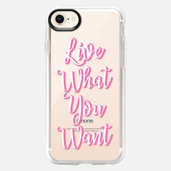 Live what you want - Snap Case