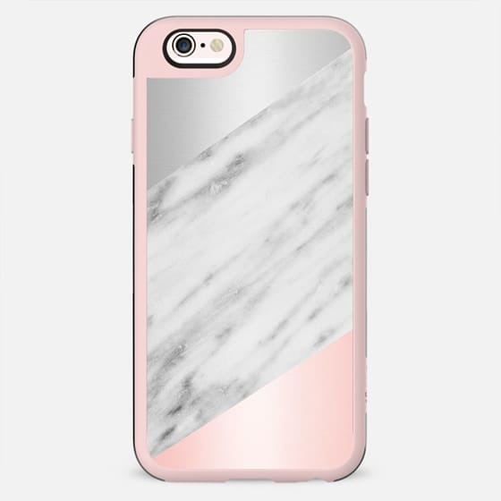 Pink Grey and Marble Collage - New Standard Case
