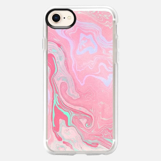 Marbled Effect with Pink - Snap Case