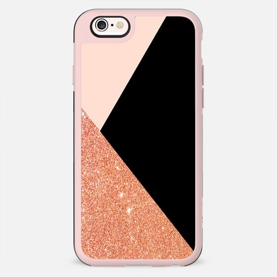 Pink Glitter  Texture and Black - New Standard Case
