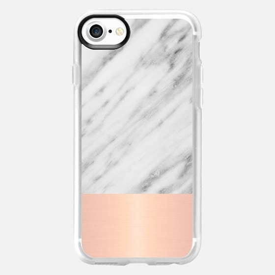 Italian Marble and Pink - Classic Grip Case