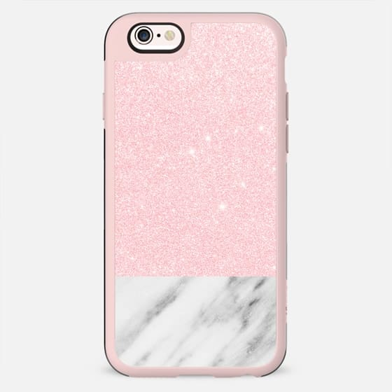 Shiny Pink and Italian Marble - New Standard Case