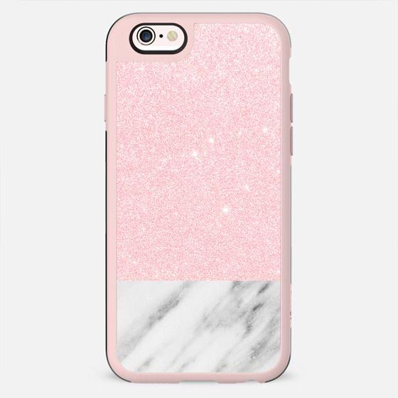 Shiny Pink and Italian Marble