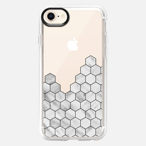 Marble Exagonal Collage - Snap Case