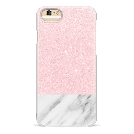 iPhone 6s Cases - Shiny Pink and Italian Marble