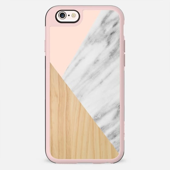 Light Wood, Pink and Italian Marble - New Standard Case
