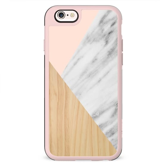 Light Wood, Pink and Italian Marble