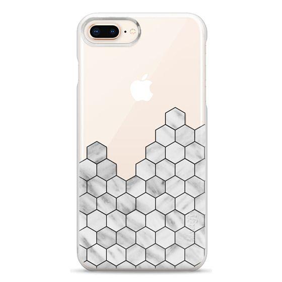 iPhone 8 Plus Cases - Marble Exagonal Collage