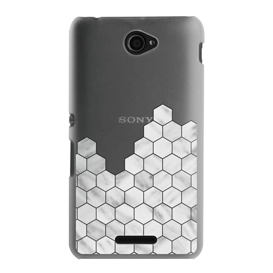 Sony E4 Cases - Marble Exagonal Collage