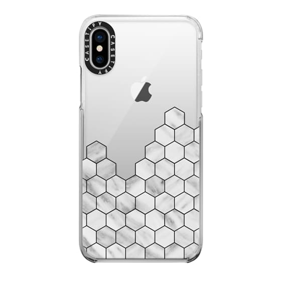 iPhone X Cases - Marble Exagonal Collage