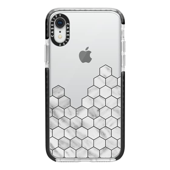 iPhone XR Cases - Marble Exagonal Collage