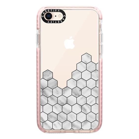 iPhone 8 Cases - Marble Exagonal Collage