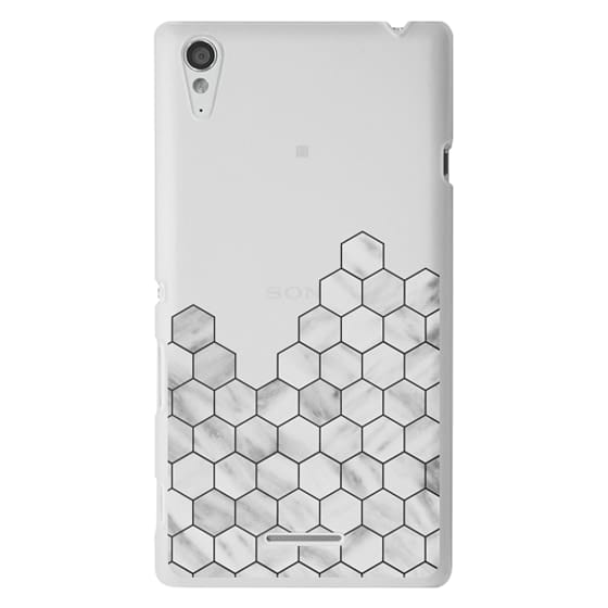 Sony T3 Cases - Marble Exagonal Collage