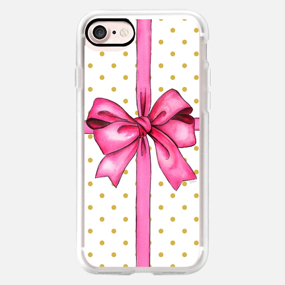 SAY IT WITH A GIFT (Polka dot background, Bow) -