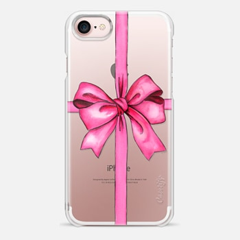 iPhone 7 Case SAY IT WITH A GIFT (Transparent background, Bow)