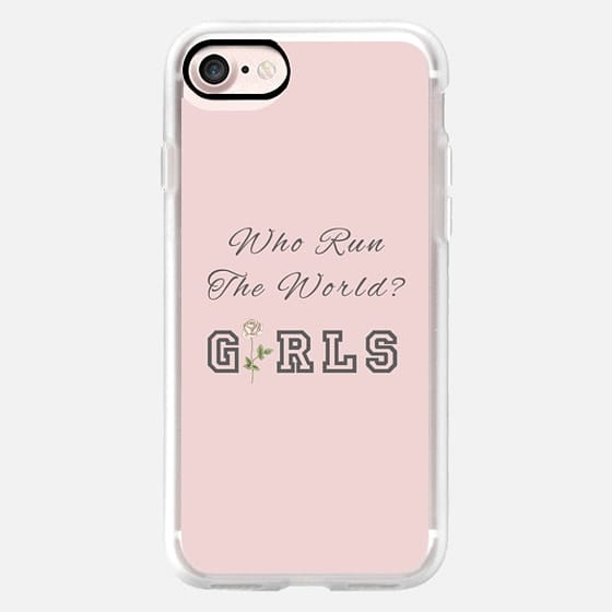 WHO RUN THE WORLD? GIRLS (Pink Background) -